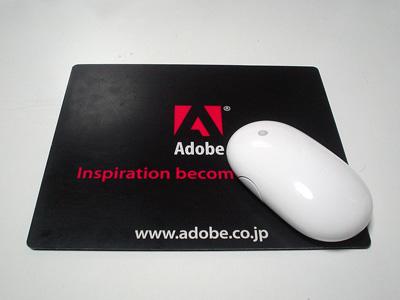 オレ様のAdobe謹製マウスパッドとWireless Mighty Mouse
