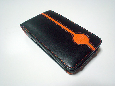 生身のDLO Leather Folio for touch(オレンジ/ブラック)