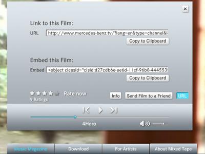 Mixed Tape の URL と Embed