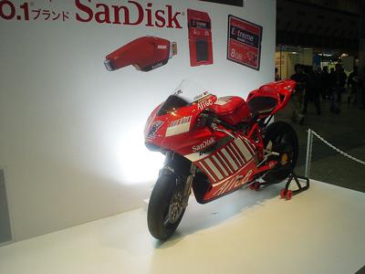SanDiskのブース