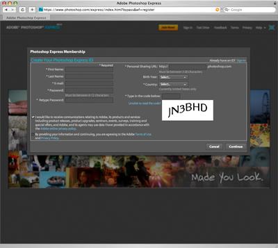 Photoshop Express Membership