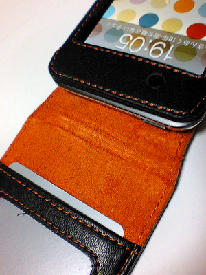 DLO Leather Folio for touch(オレンジ/ブラック)