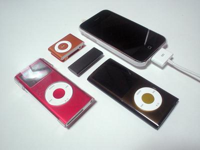 iPod shuffleやiPod nanoとiPhone