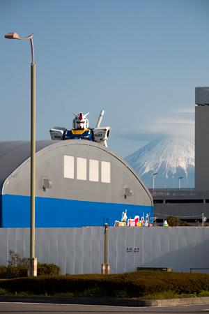 ガンダムと富士山