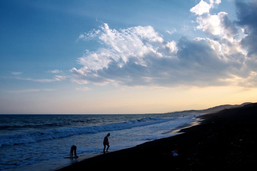 平塚の砂浜